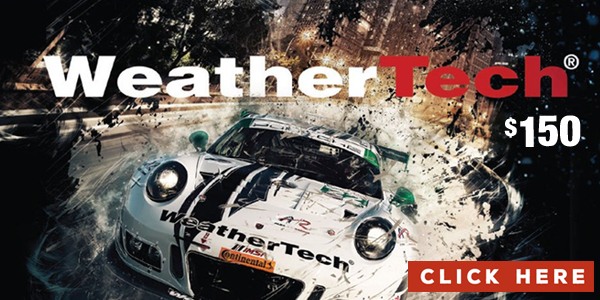 Enter for a chance to win a $150 Weather Tech Gift Card. WeatherTech, is the global leader and through creativity, productivity and innovation – with an eye toward conservation – WeatherTech continues to develop the finest automotive accessories you can purchase to protect, or enhance your vehicle ownership experience.