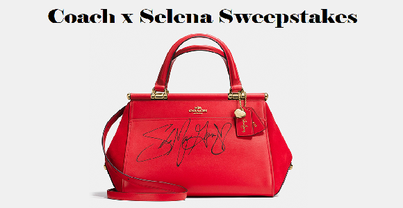 You could WIN a trip to meet Selena in New York City and win a signed bag from the limited-edition Coach x Selena Gomez collection. Plus, 100 winners will receive a Coach Bag autographed by Selena Gomez!