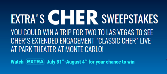Extra TV's Cher Sweepstakes (Word Of The Day)