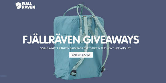 KÅNKEN is giving away a backpack valued at $75 each everyday in the month of August. Enter daily for your chance to win
