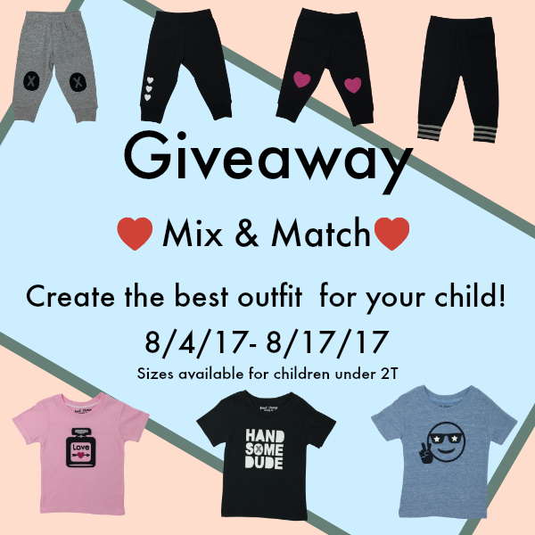 Enter to win the outfit of your choice for your child under 2 years old from Genuineblox.Available sizes: 3-6m, 6-12m, 12-18m. 18-24m.Mix & Match! Tell us what you like by picking the top and bottom of your choices!