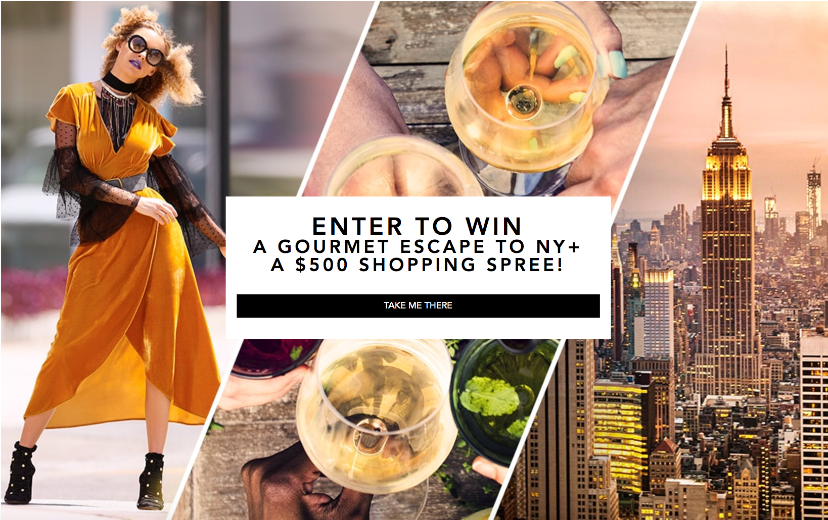 Enter for your chance to win a gourmet Escape to NYC and a $500 Shopping Spree to Boston Proper for a new vacation wardrobe