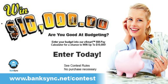 BankSync eSmart Bill-Pay Sweepstakes (Weekly, Monthly Cash Winners)