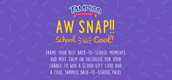Tampico Aw Snap School is Cool Photo Instant Win Game