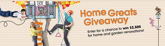 Enter for a chance to win $2,500 in cash for home and garden renovations