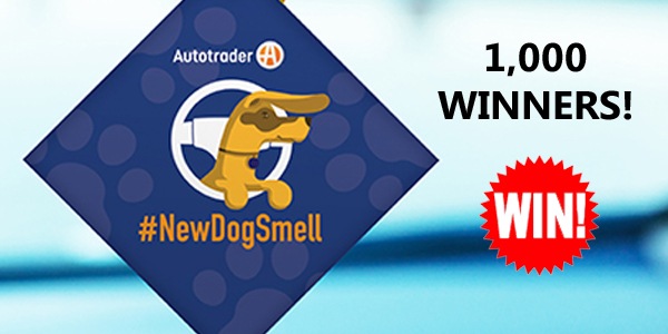 "1000 WINNERS! Win a ""New Dog Smell"" Auto Air Freshener from Autotrader"
