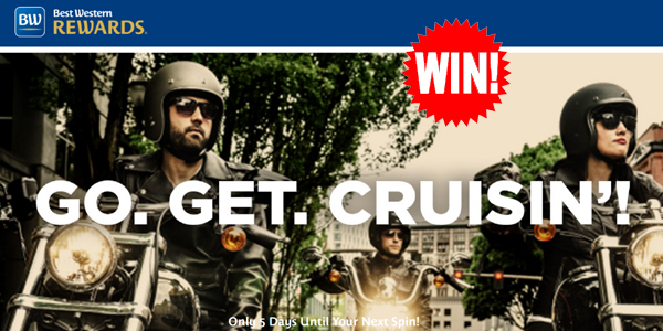Take a spin every Friday for your chance to win a vacation getaway and other prizes from Best Western