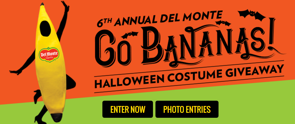 SWEETIES PICK! Del Monte is making Halloween fun and fresh by giving away 1,125 banana costumes!