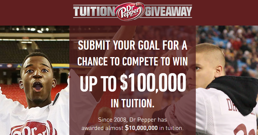 dr pepper tuition giveaway dr pepper tuition giveaway contest 10 18 1pp18 24 4842