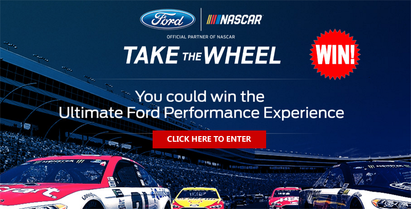 Ford is giving you the have a chance to win the fan-built Ford Performance Experience. Enter Here