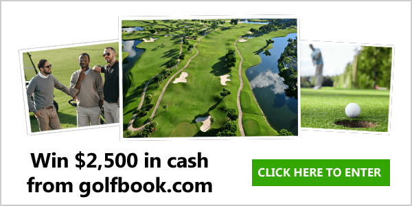 Win $2,500 in cash from golfbook.com