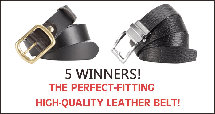 Enter for your chance to win a Kinzd high quality leather belt, winner's choice of a men's Classic Style or Ratchet belt. Five Winners