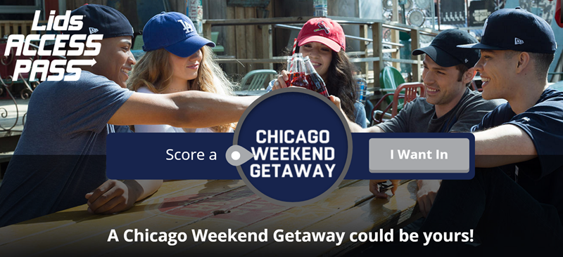 A Chicago Weekend Getaway could be yours when you enter the Lids Quikly Giveaway