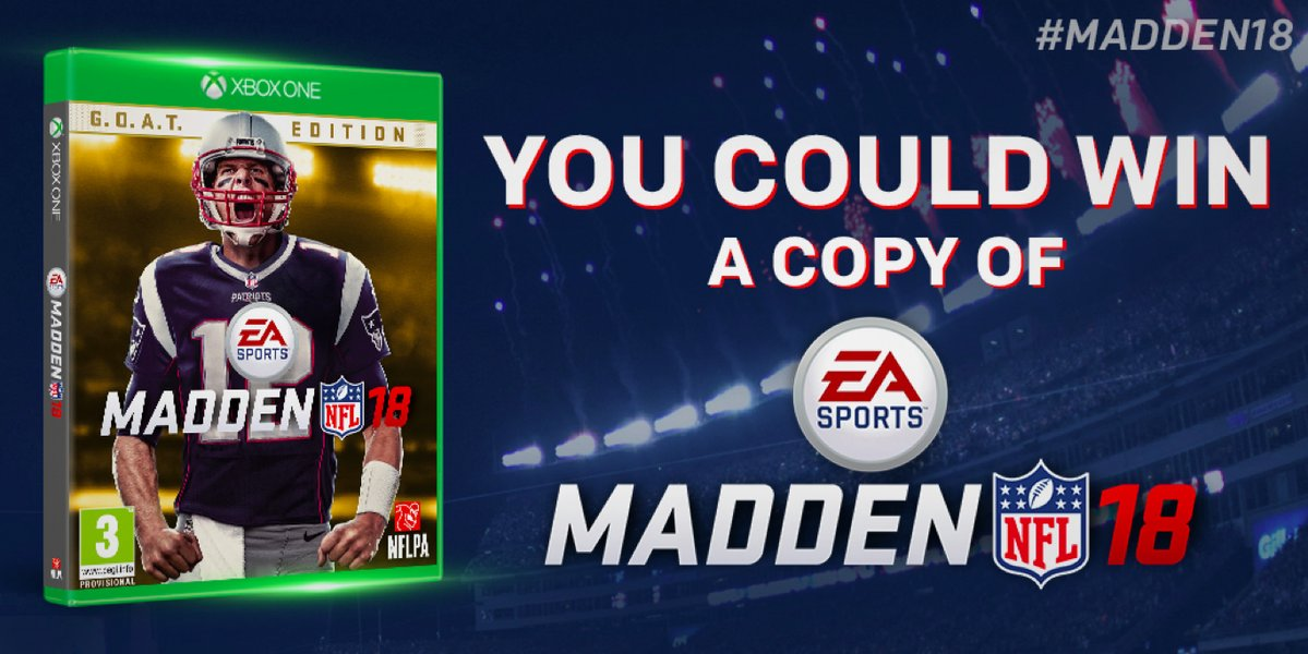 Follow the NFL on Twitter and retweet for your chance to win 1 of 25 copies ofEA Madden NFL 18
