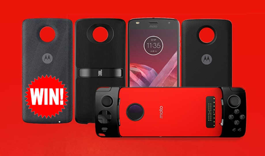 3 WINNERS! Enter for a chance to win a Moto Z² Play and Moto TurboPower Pack!
