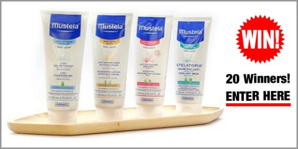 Enter for your chance to win one of twenty (20) Mustela product sets worth $85 to $91 each.