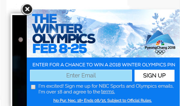 50 WINNERS! Enter to win a PyeongChang 2018 Olympics collectible pins from NBC Sports