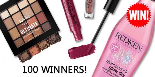 Enter for your chance to win 1 of 75 NYX Professional Makeup and Redkin Prize packs worth $100 each