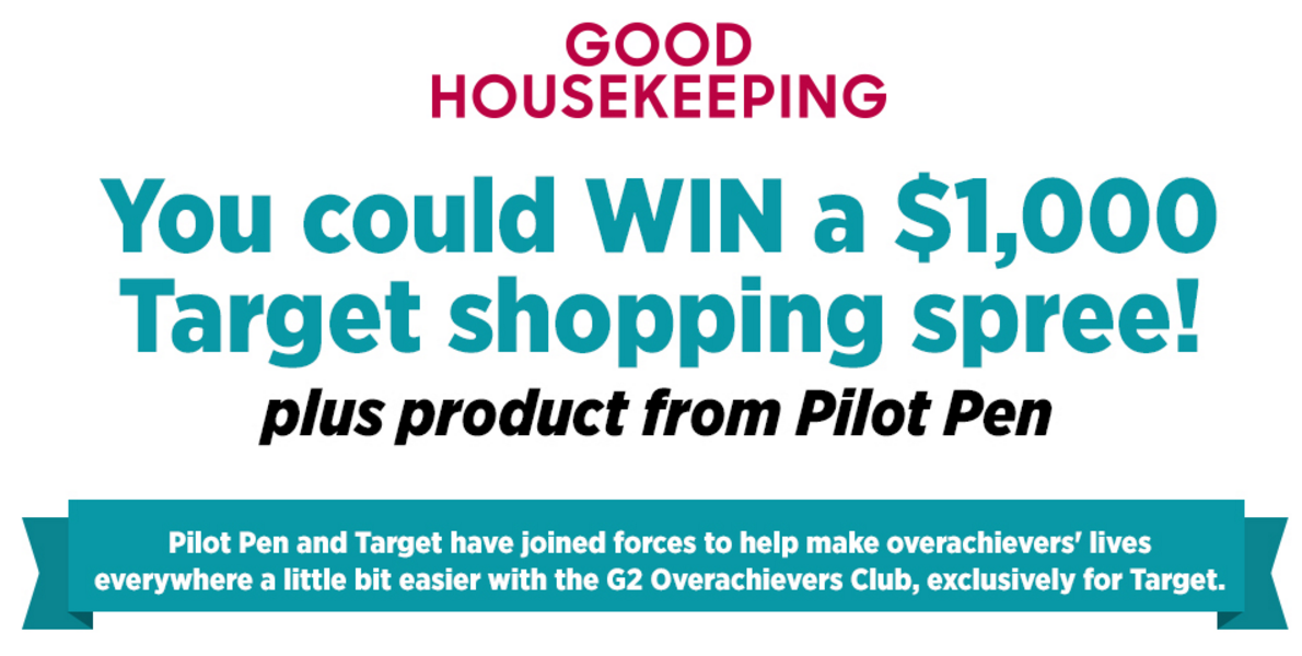 You could WIN a $1,000 Target shopping spree from Good Housekeeping