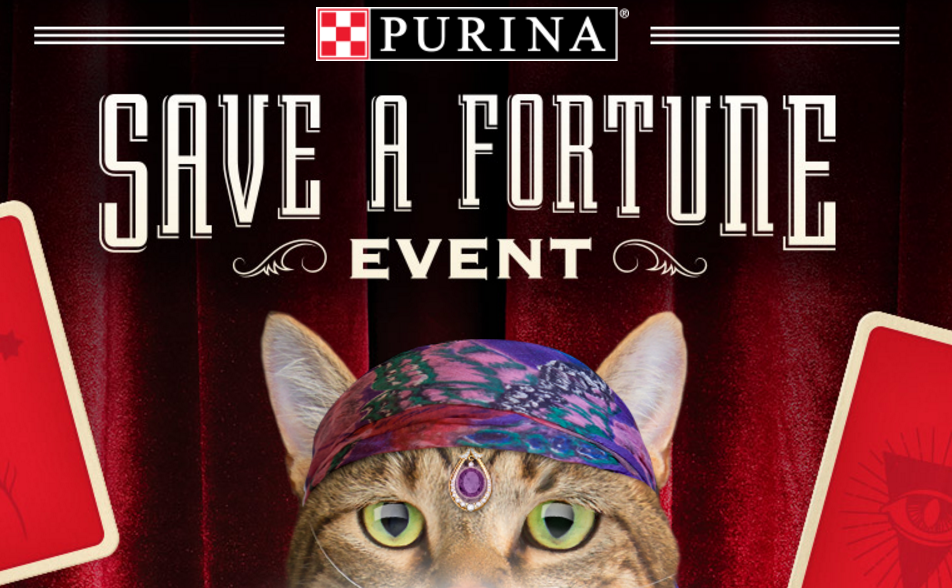 Play the Purina Save a Fortune Instant Win Game now to win 1 of 88 prizes