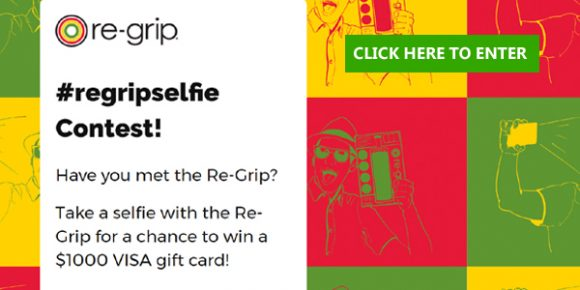 Take a selfie with the Re-Grip for a chance to win a $1000 VISA gift card!