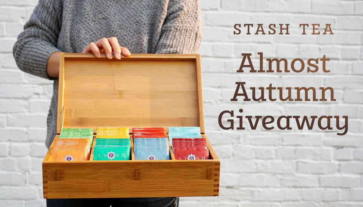 Five lucky winners will receive a beautiful bamboo tea chest filled with their choice of Stash premium teas.! Stock up on your favorite Stash Tea flavors or try out a variety of new ones just in time for fall. Saying goodbye to long days, warm weather, and summer vacations is bittersweet, but the transition to fall brings some of our favorite thing - cozy sweaters, autumn colors, pumpkin everything, and plenty of warming cups of tea.