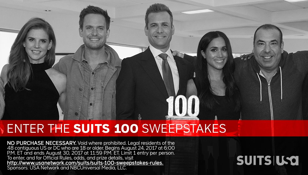 QUICK ENDING! Enter to win a framed copy of a USA Network's Suits full script signed by members of the cast - 7 winners https://twitter.com/Suits_USA/status/900831585947312128