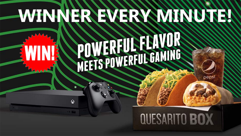 taco bell xbox one x giveaway taco bell xbox instant win game xbox one x winner every 6379