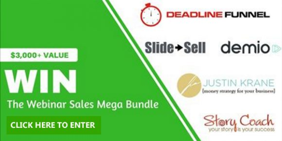 Calling all business owners and online money makers. Enter for your chance to win the Ultimate Webinar Sales Mega Bundle with over $3,000 in Prizes