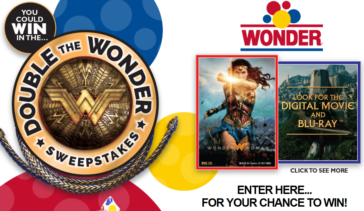 """Enter theWonder Bread Double The Wonder Sweepstakes for your chance to win a 60"""" flat screen TV or one of 130 other prizes"""