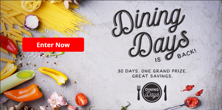 AARP September Dining Days Sweepstakes