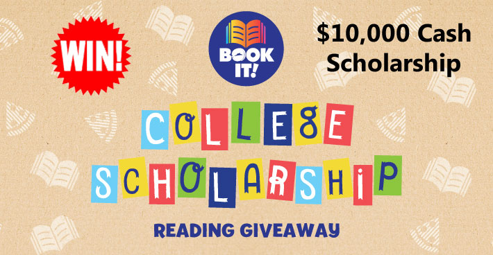 Pizza Hut is giving you the chance to win a $10,000 college scholarship to participating BOOK IT!