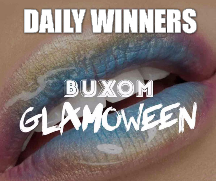 DAILY WINNERS! From October 1st - 31st, Buxom is give away 1 gift bag every day worth $100 each