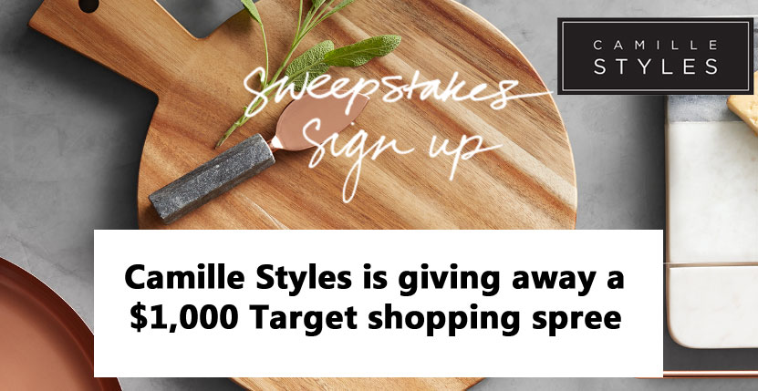 Camille Styles is giving away a $1,000 shopping spree