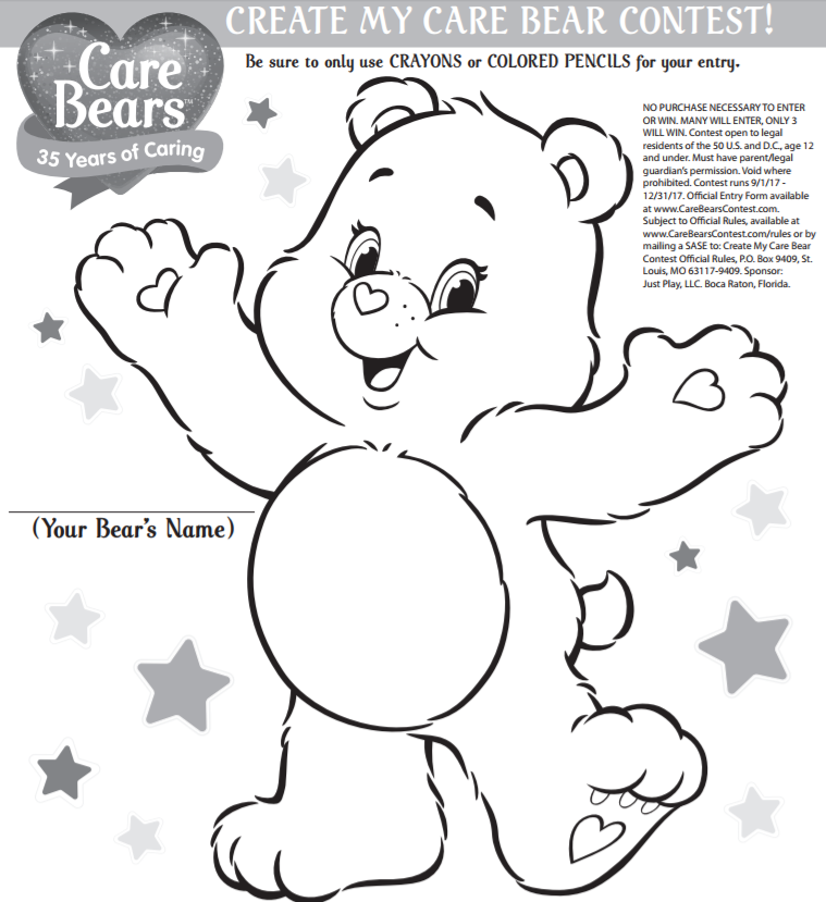 create my care bear coloring contest Baby Care Bears Coloring Pages  Care Bear Coloring Games