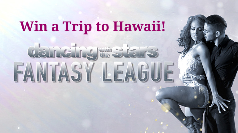 Join the Dancing with the Stars Fantasy League for a chance to win a trip to Hawaii!