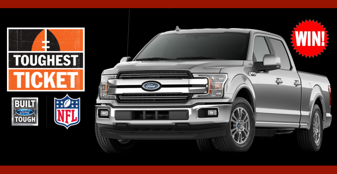 Enter for a chance to win a brand new 2018 Ford F-150 with a Custom NFL design and a VIP trip to Super Bowl LII.