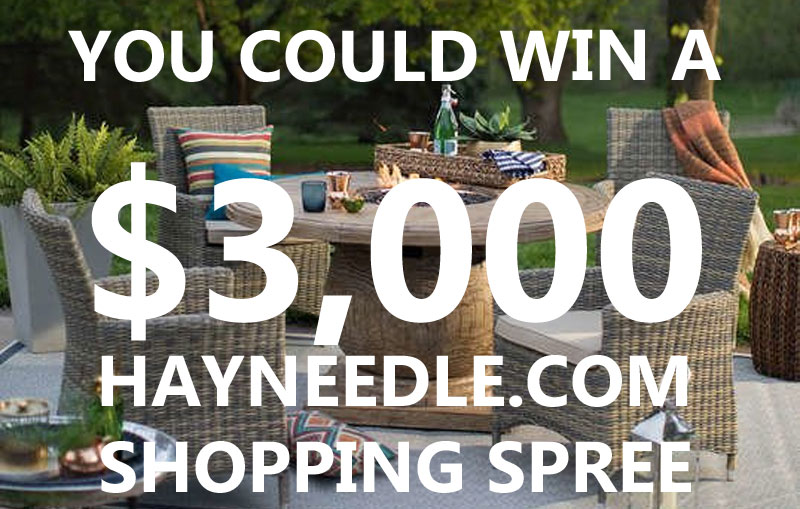 Enter for your chance to win a $3,000 shopping spree from hayneedle.com!