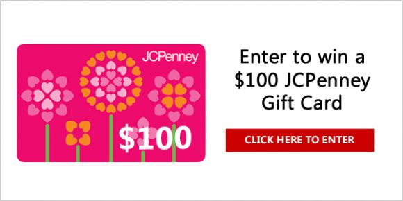 QUICK ENDING! $100 JC Penney Gift Card Giveaway