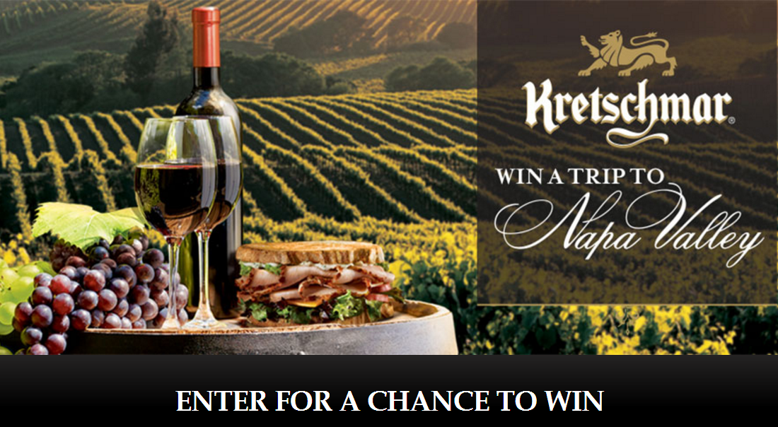 Submit your original Kretschmar Deli sandwich recipe for your chance to win! Just register and submit your recipe and photo. The Grand Prize Winner for best sandwich gets a trip for 4 to Napa Valley for a cooking experience with world-renowned chefs.