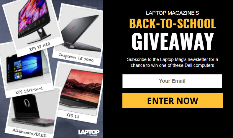 LAPTOP Magazine are giving away 5 of Dell's best computers for students. You can enter this sweepstakes today through October 5th.