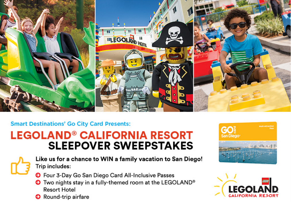 Enter for your chance to win a trip for four to San Diego's LEGOLAND
