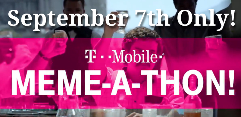 September 7th Only! Get your fave Netflix memes/gifs ready! EPIC prizes all day 9/7 fro T-Mobile on Twitter starting at 9AM PST.