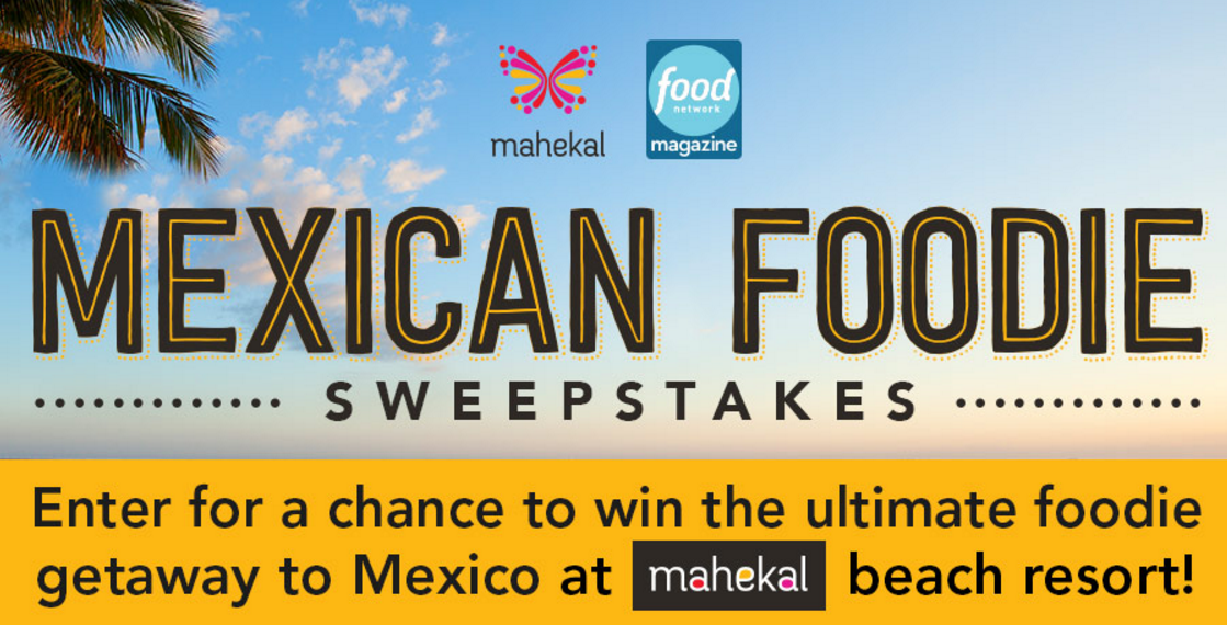 Win the ultimate food getaway to theMahekal Beach Resort in Playa Del Carmen in Mexico