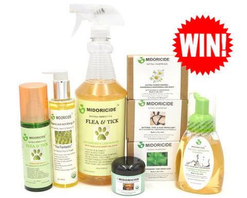 60 FREE Samples and 1 Prize Winner! Enter for a chance to win $229 in Midoricide Natural Pet products.