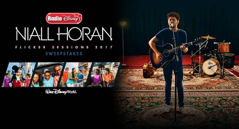 Enter the Radio Disney Niall Horan Flicker Sessions Tour Sweepstakes for your chance to win a trip to Orlando, Florida to see Niall Horan perform at the House of Blues at Disney Springs at the Walt Disney World Resort. Enter online or through the Disney app