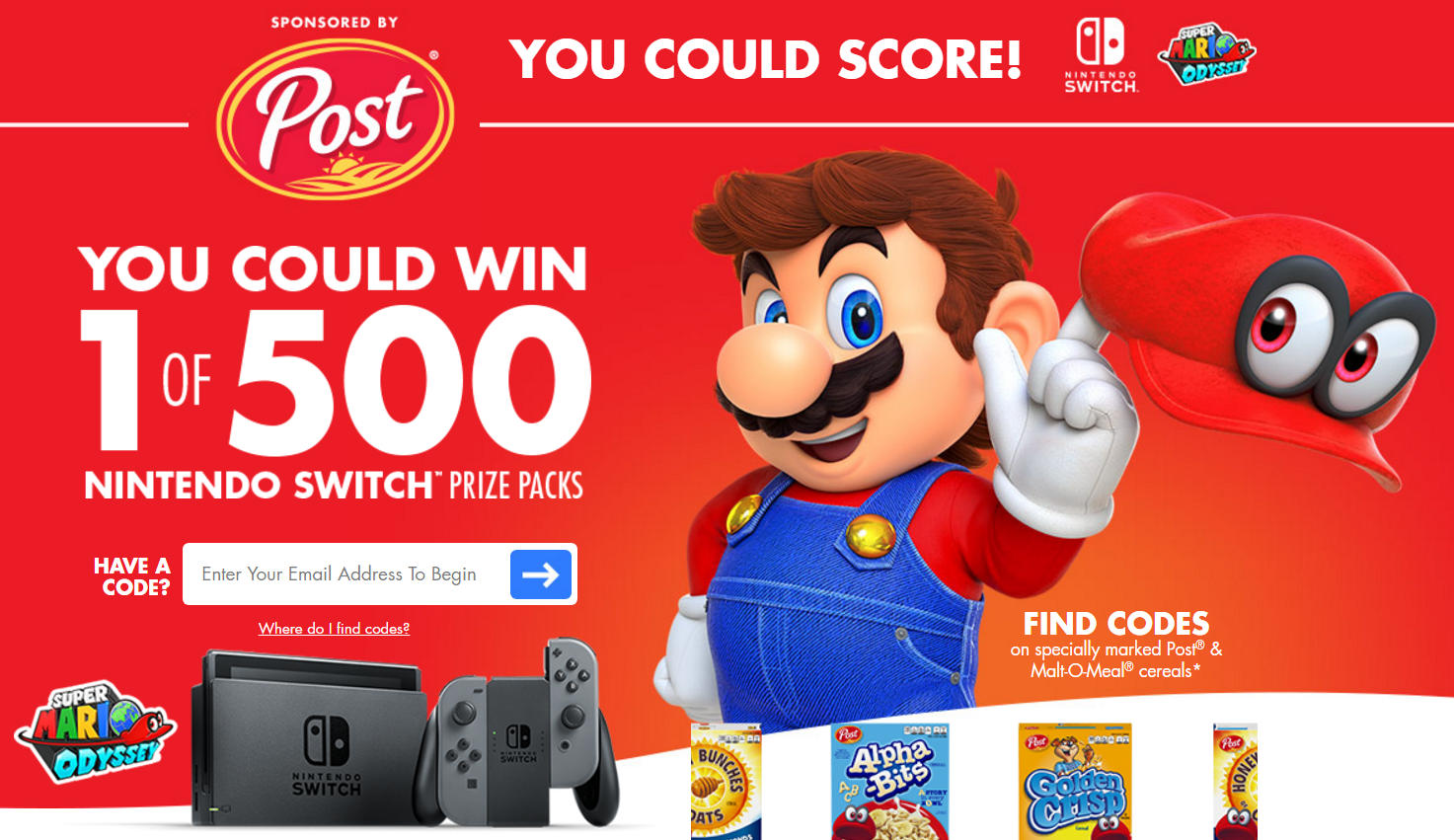 nintendo sweepstakes post cereal s nintendo switch console instant win game 9607
