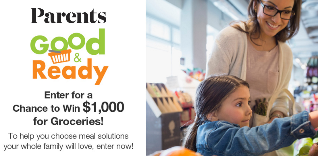Could you use $1,000 cash towards groceries? Parents Magazine is giving away a $1,000 cash prize