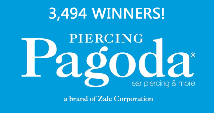 3,494 WINNERS! Piercing Pagoda is giving away over $20,000 in prizes