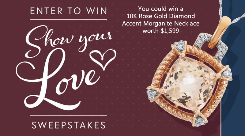 Click here to enter to win a 10K Rose Gold Diamond Accent Morganite Necklace worth $1,599